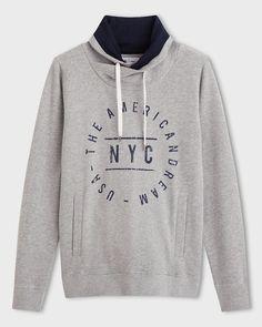 Redoute Création Sweatshirt med ståkrage Sweatshirt med korslagt ståkrage og…