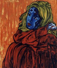 2-Avatar. Pintura al óleo 100 x 81 cm  http://www.saatchionline.com/art-collection/Painting-Mixed-Media/Expresiones-de-CARMEN-LUNA/71968/25377/view