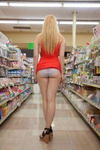 Showing Panties In Public
