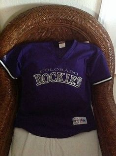 865ca6c6af6 vintage larry walker  33 colorado rockies baseball Majestic jersey size XL  youth. themesias13 · ON EBAY baseball