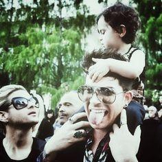 Too cute for words: Adam Lambert and Riff Cherry, his godson   Source: instagram Adamlambert