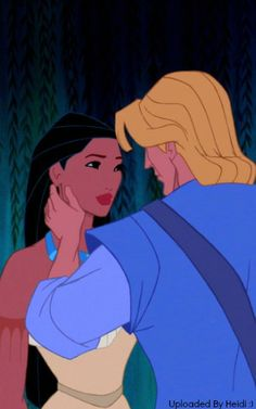 Pocahontas and John Smith. The way he touches her face <3