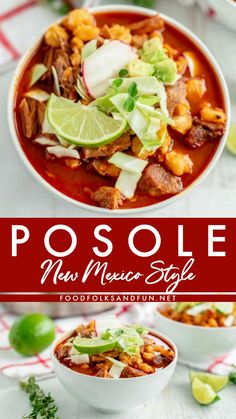 New Mexico Posole Recipe - Pozole Rojo This New Mexico Posole recipe is a hearty, flavorful pork soup or stew that is made with New Mexico red chiles, garlic, pork, and hominy. Authentic Mexican Recipes, Mexican Food Recipes, Dinner Recipes, Mexican Desserts, Spanish Recipes, Pozole Recipe Pork, Authentic Posole Recipe Pork, Posole Recipe Easy, Posole Recipe New Mexico