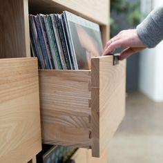 Dovetail Vinyl Storage Cabinet
