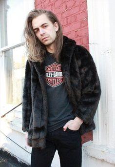 Vintage 80's Dark Brown Faux Fur Coat by WastelandVintageUK on Etsy