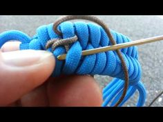 Double center stitching on a fishtail - YouTube