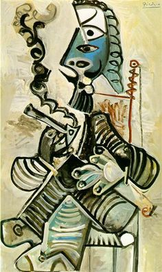 Man with pipe, 1968 - Pablo Picasso - WikiArt.org