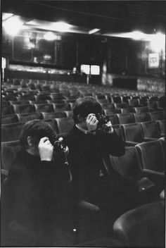George Harrison ,Ringo Starr.
