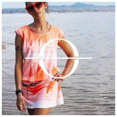 Stunning Neon Orange Tshirt Dress available  on mapaya.pl #summerlook #mapaya #tshirtdress