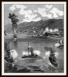 la guerra civil en Chile 1891 Combate de Valparaiso   por santiagonostalgico