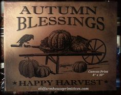 Autumn Blessings Canvas Print