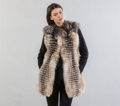2924194da Marble Fox Fur Jacket - 100% Real Fur | Fox fur, Fur jacket and Foxes
