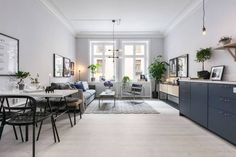 Cozy home with a blue living kitchen | COCO LAPINE DESIGN | Bloglovin'