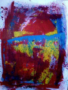 Fuchsia Original Abstract Art on Paper 11, $98