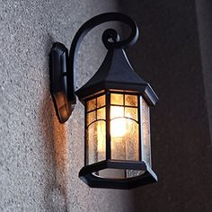 LNC Industrial Edison Vintage Style Loft One-Light Exterior Wall Lantern Outdoor Light Fixture,Black Finish with Glass Outdoor Wall Lamps, Outdoor Sconces, Outdoor Light Fixtures, Outdoor Lighting, Wall Sconce Lighting, Candle Sconces, Wall Sconces, Retro Lampe, Solar Wall Lights
