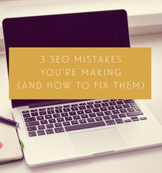 3 SEO Mistakes That You're Making and how to easily fix them. Doesn't even any SEO knowledge at all! Make Money Blogging, Way To Make Money, How To Start A Blog Wordpress, Seo Basics, Seo Tips, Blog Writing, Online Marketing, Digital Marketing, Blogging For Beginners