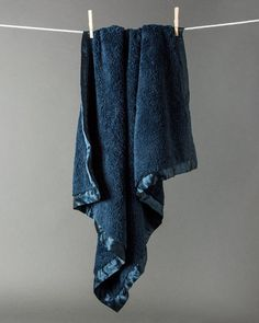 Chenille Receiving Blanket - Navy