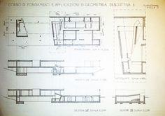 Rem Koolhaas - la casa nel bosco TAV1 - piano terra, pianta e sezioni.