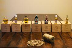 Groomsmen Gifts - Fancy shave kit with mini bottles of liquor