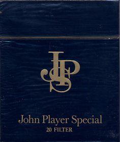 JPS (John Player Special) back when cigarettes were cool Vintage Cigarette Ads, Cigarette Brands, Cigarette Box, Retro, Nostalgia, Up In Smoke, Lectures, The Good Old Days, Vintage Advertisements