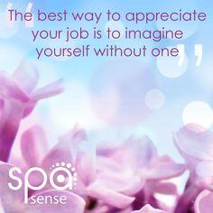 Appreciation is wonderful