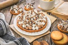 fraise citron basilic Cookies, Baking, Cake, Desserts, Inspiration, Food, Chocolate Custard, Lemon, Chantilly Cream