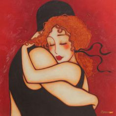 "Made by: Corinne Reignier , ""Embrace""........""Oh, I love him so""...... B.."