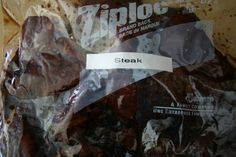 Echoes of Laughter: Camping Cuisine Part 3: 'For Goodness Steak'...steak frozen in marinade prior to camping trip...