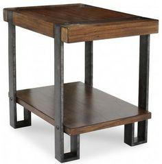 RIVERSIDE SIERRA CHAIRSIDE TABLE industrial side tables and accent tables