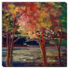 Sylvia Angeli's 'Autumn Trees' Canvas Gallery Wrap is the perfect way to add character, depth and value to your room. Printed using the highest quality materials to produce a beautiful giclee reproduc