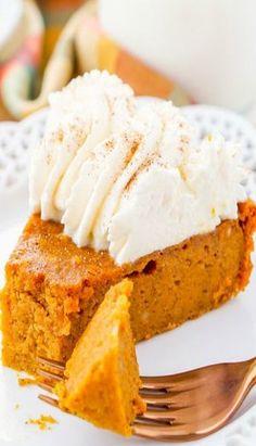 Crustless Pumpkin Pie Recipe, Low Carb Pumpkin Pie, Pumpkin Pie Cheesecake, Healthy Pumpkin Pies, Mini Pumpkin Pies, Easy Pumpkin Pie, Pumpkin Dessert, Pie Dessert, Pumpkin Recipes