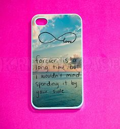 iphone 4 Case, iPhone 4s case - cute Forever love Infinity iPhone 4 Cases, Iphone 4s Cover,Case for iPhone 4 on Etsy, $15.95