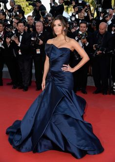 Eva Longoria in Versace at the 2015 Cannes Film Festival