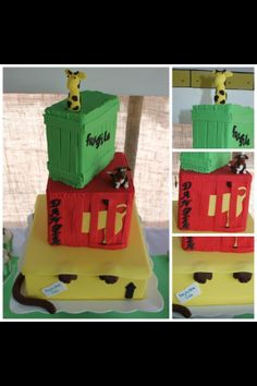My sons birthday cake Dear Zoo 6th Birthday Cakes, First Birthday Parties, 2nd Birthday, First Birthdays, Birthday Ideas, Dear Zoo Party, James 1st, Inspiration For Kids, Childrens Party