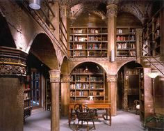 I'd make it look dreamer, more ethereal and less--oh, I don't know...solid-- but pinning because pillars and arches in a library is so very Elven.