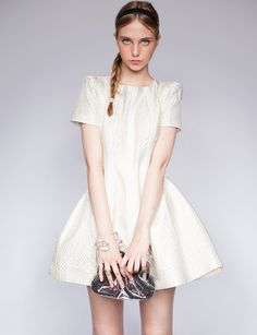 Pixie Market Ivory structured dress - Shop the latest Fashion Trends