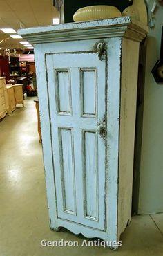 robins egg blue chimney cupboard