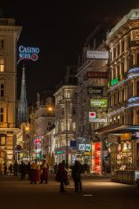 The center of Vienna at night Vienna Nightlife, Night Life, Most Beautiful Pictures, Times Square, Cities, Street View, Stock Photos, Travel, Image