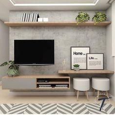 Excellent small living room designs are offered on our site. Take a look and you will not be sorry you did. Living Room Tv Unit, Home Living Room, Interior Design Living Room, Living Room Designs, Living Room Decor, Tv Unit For Bedroom, Tv On Wall Ideas Living Room, Small Living Rooms, Interior Decorating