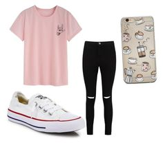 """Untitled #191"" by briannaxbolivar on Polyvore featuring Boohoo and Converse"
