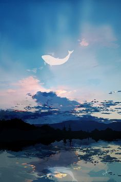 夕暮れのクジラ 青藤 2016.7/22