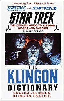 The Klingon Dictionary Star Trek Subsequent