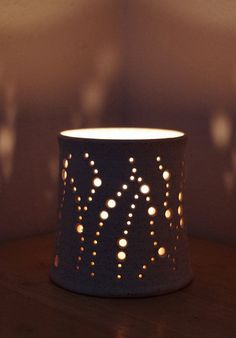 NEW Made to Order Handmade Ceramic Luminaries in by NaomiAnita: