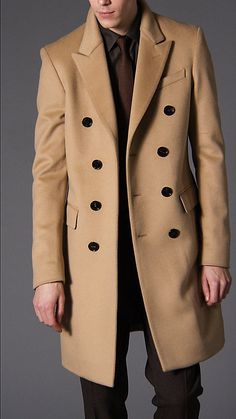 Could always use a camel topcoat | Burberry - Felted Wool Topcoat