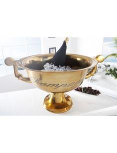 Vedro na šampanské Luxury Gold Champagne Cooler, Loft, Aluminium, Serving Bowls, Barware, Romania, Decorative Bowls, Scandinavian, Luxury
