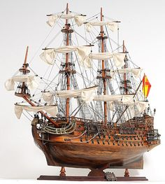 Old Tall Handmade Wooden Ship Craft San Felipe Exclusive Edition Model Boat Model Ship Building, Boat Building, Scale Model Ships, Scale Models, Mercedes Stern, Model Sailing Ships, Ship Of The Line, Wooden Ship, Boat Plans