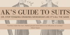 Guide to standard cuts and styles of men's suits ~