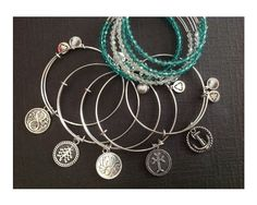 Charm Bracelets - Designer Style Charm Bracelets - Expandable Charm Bracelets and Beaded Bangles - Mother's Day - Graduation Gift