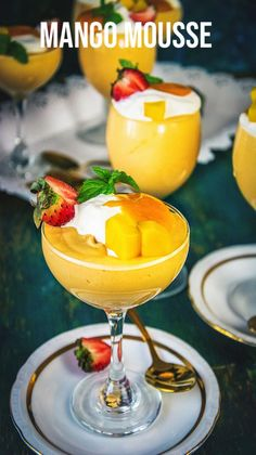 Mango Dessert Recipes, Summer Drink Recipes, Indian Dessert Recipes, Mango Recipes, Sweet Recipes, Kulfi Recipe, Mango Pudding, Dessert Aux Fruits, Picnic