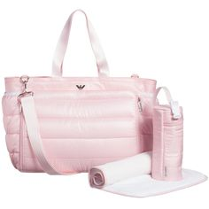 S Pink 4 Piece Baby Changing Bag Set 45cm Armani